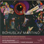 Bohuslav Martinů: Complete Works for Cello & Orchestra. Petr Nouzovský (cello), Pilsen Philharmonic, Tomáš Brauner (conductor). MDG, 2017.